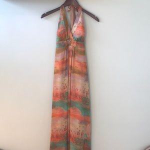 ⭐️Jessica Simpson Gorgeous Water Color Maxi Dress